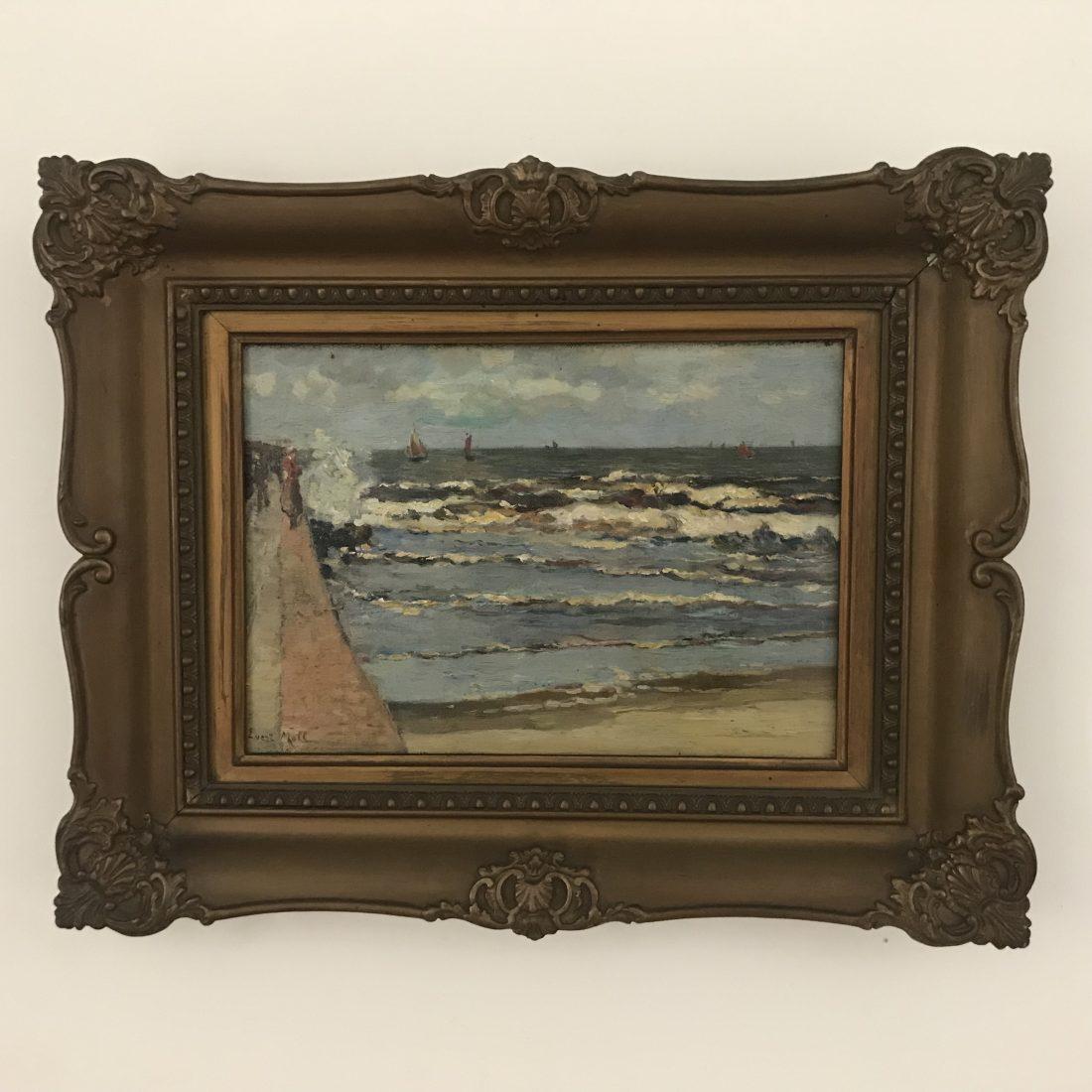 Evert Moll ( 1878 – 1955), vissersboten op zee