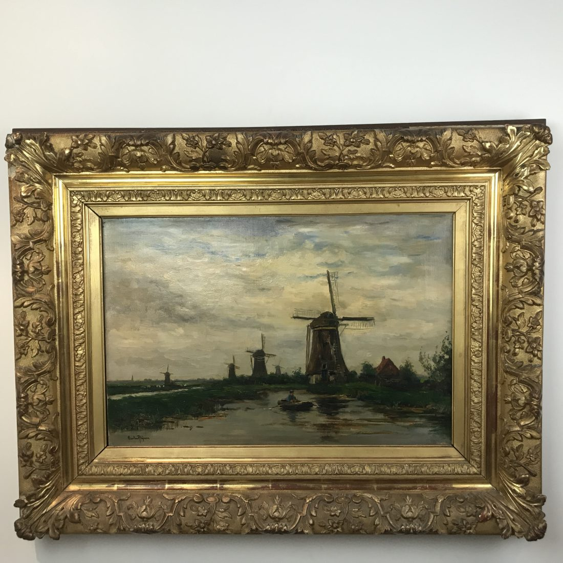 Varen op het meer, Jan Van Rhijnnen, ( 1859-1927)