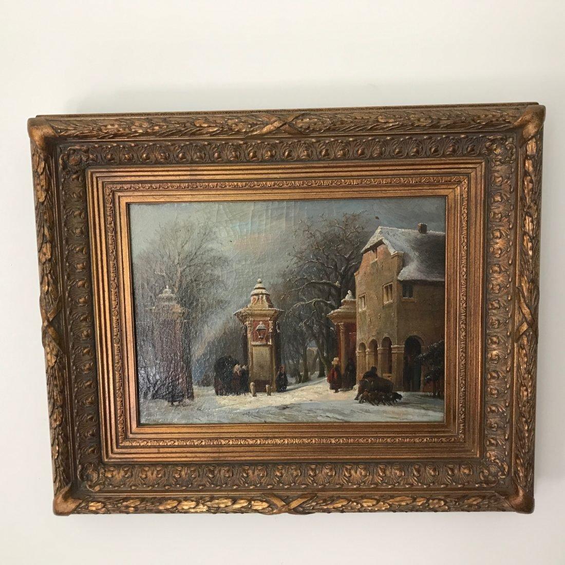 Leonardus Johannes Senf, Oude Tolhuis, Den Haag, 1889, olieverf op doek