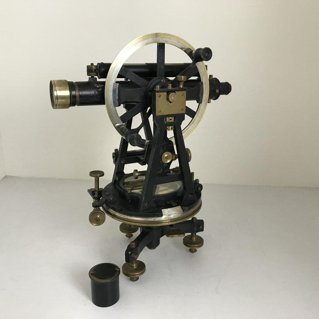 Messing theodoliet instrument, Aston & Mander, eind 19e eeuw, Londen