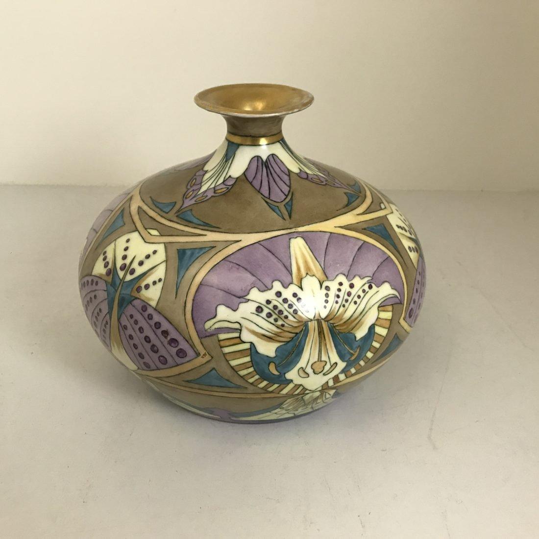 S.Chottean Limoges Art Nouveau porselein vaas, jaren 30