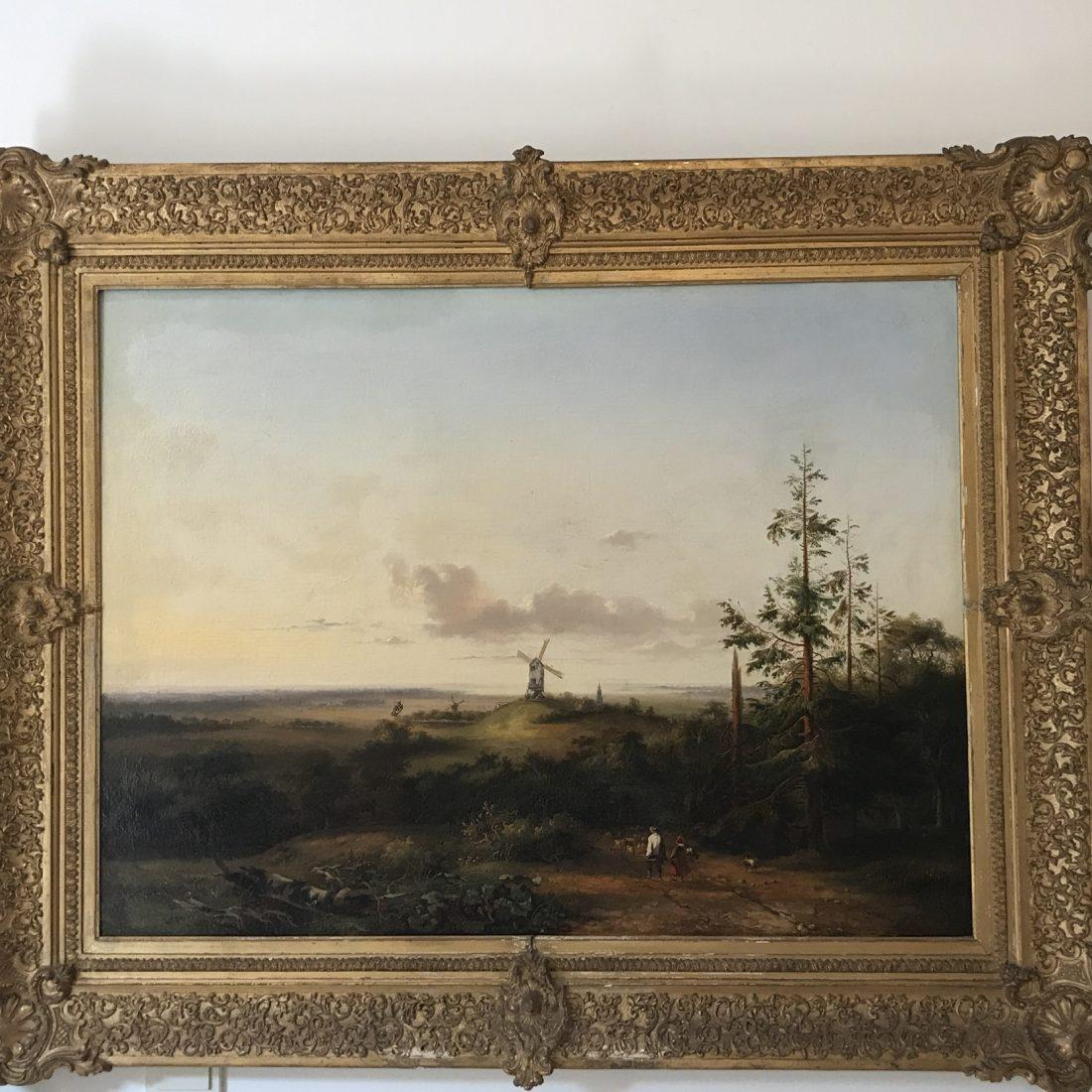 Ferdinand Hendrik Sypkens (1813 – 1860), Boslandschap met diverse dieren en personen