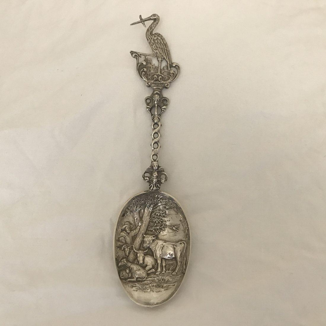 Zilveren geboortelepel, Den Haag, 1914
