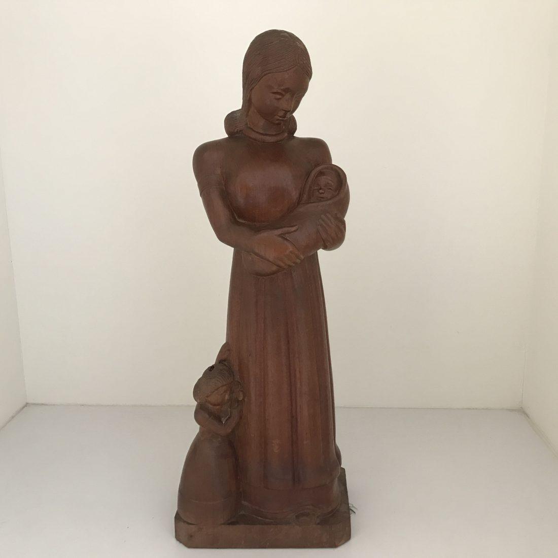 Abraham Cornelis Roth (1916 – 1995), Moeder met haar baby in haar armen en haar dochter aan haar zijde