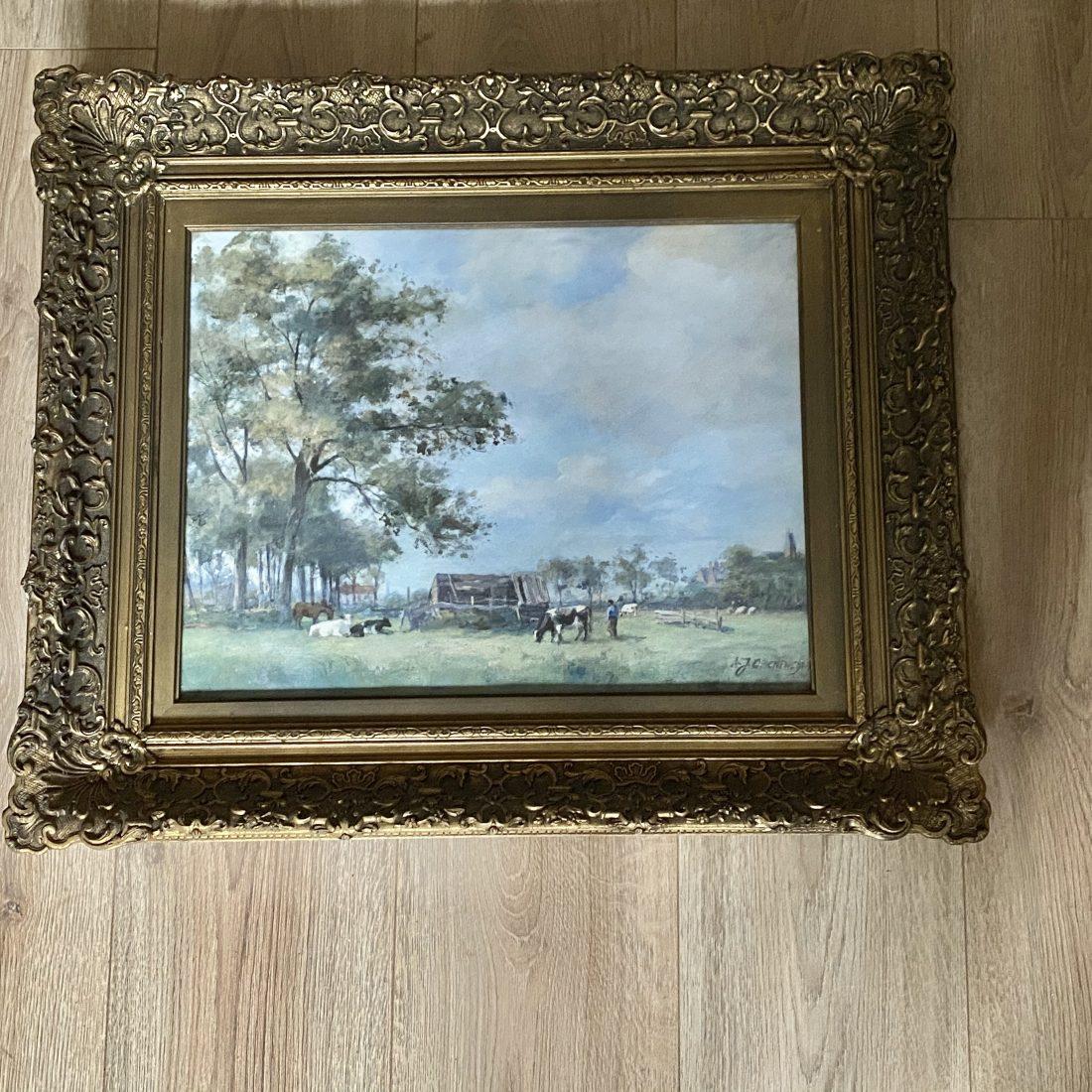 Boer met zijn koeien in de wei, Adriaan Groenewegen (1874-1963)