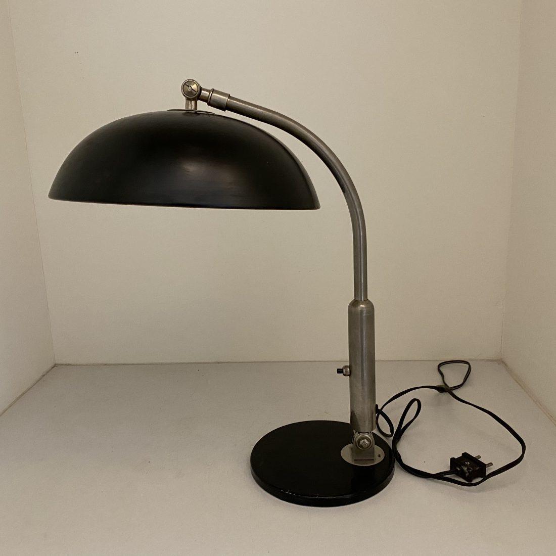 Metalen/messing tafellamp, Hala Busquet, Zeist, jaren 50