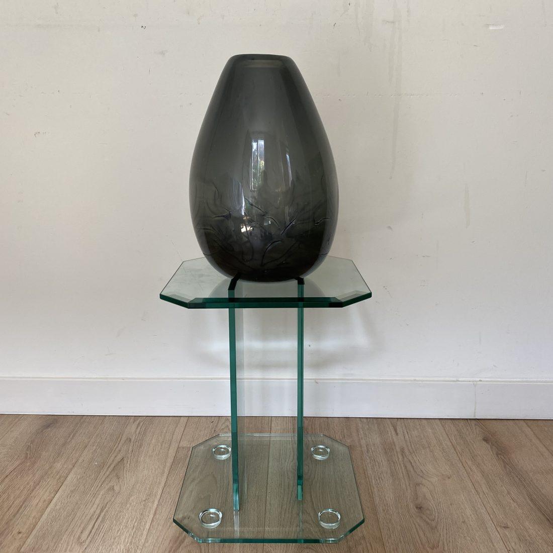 Andries Copier (Leerdam, 1901 – 1991), Grijs kleurige Unica vaas (x7), versiering van zeegras