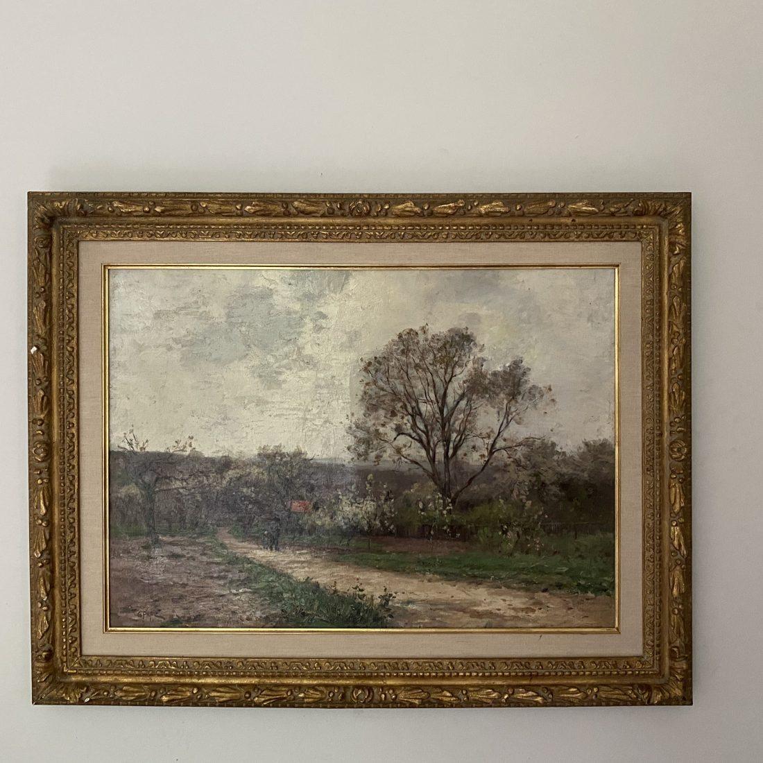 Bosgebied met personen, Jean Constant Pape (1865-1920)