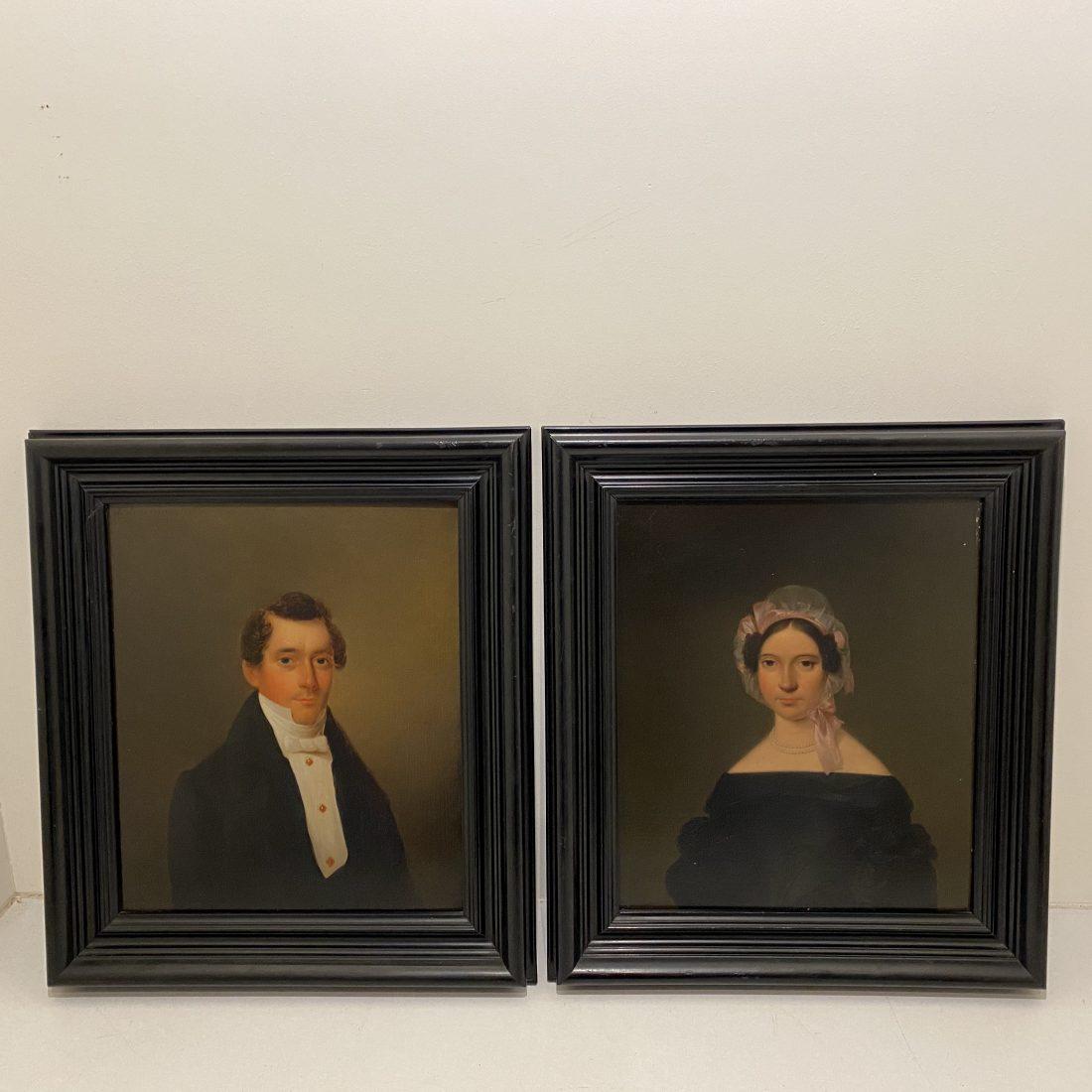 Heer & Dames portret, Izaak Schouman (Dordrecht 1801 – Zetten 1878)
