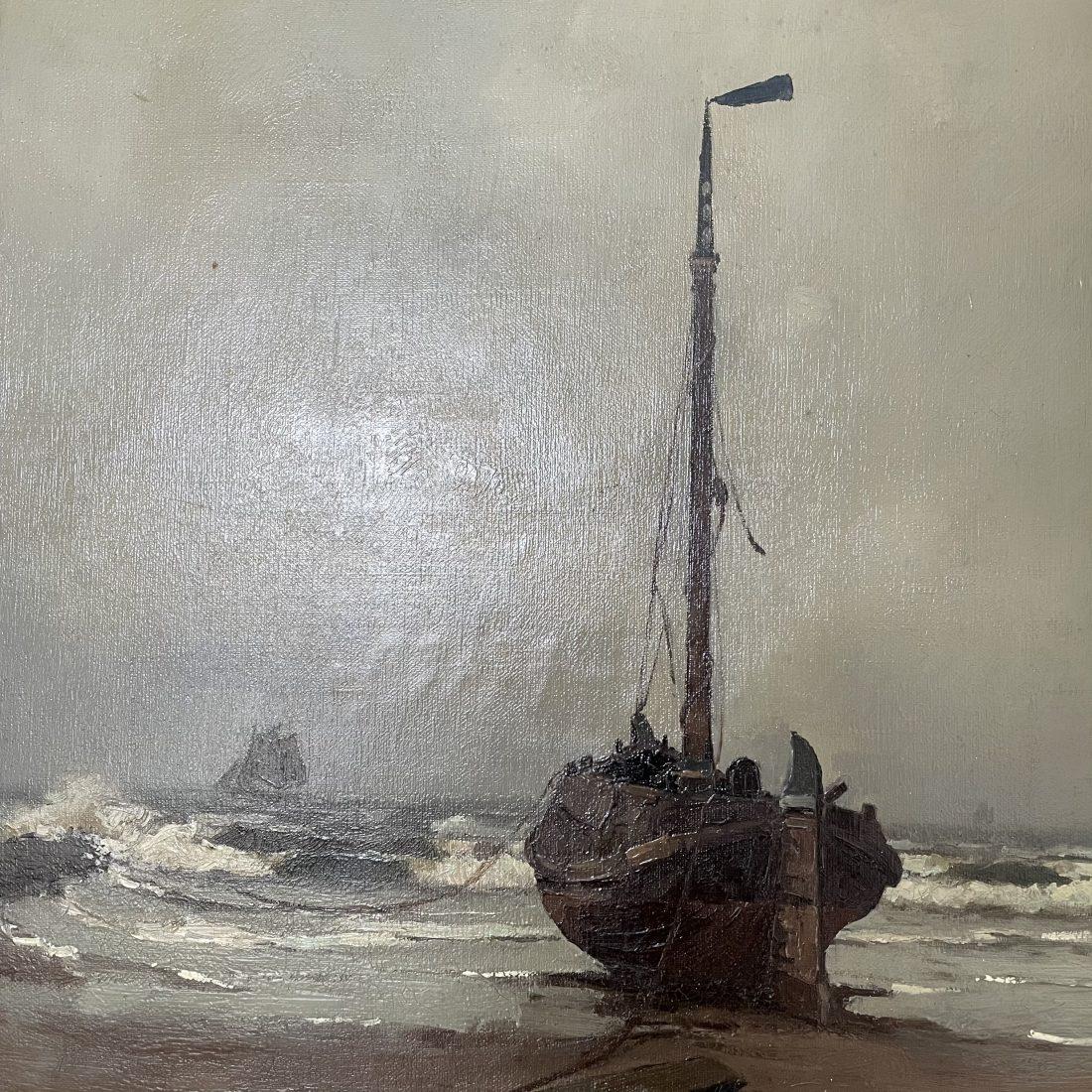 Bomschuit op het strand, Henk Dekker (1897-1974)