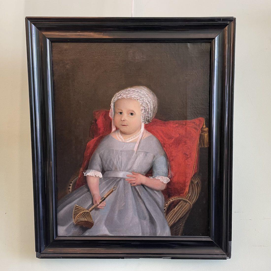 Zittend kind met de bof, ongesigneerd, midden 19e eeuw