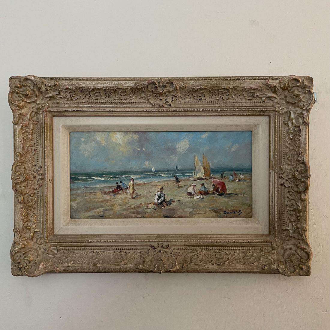 Strand gezicht (Huib Daniels 20e eeuw)