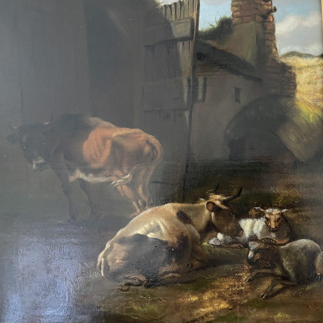 Stieren familie op de boerderij, onbekend, midden 19e eeuw