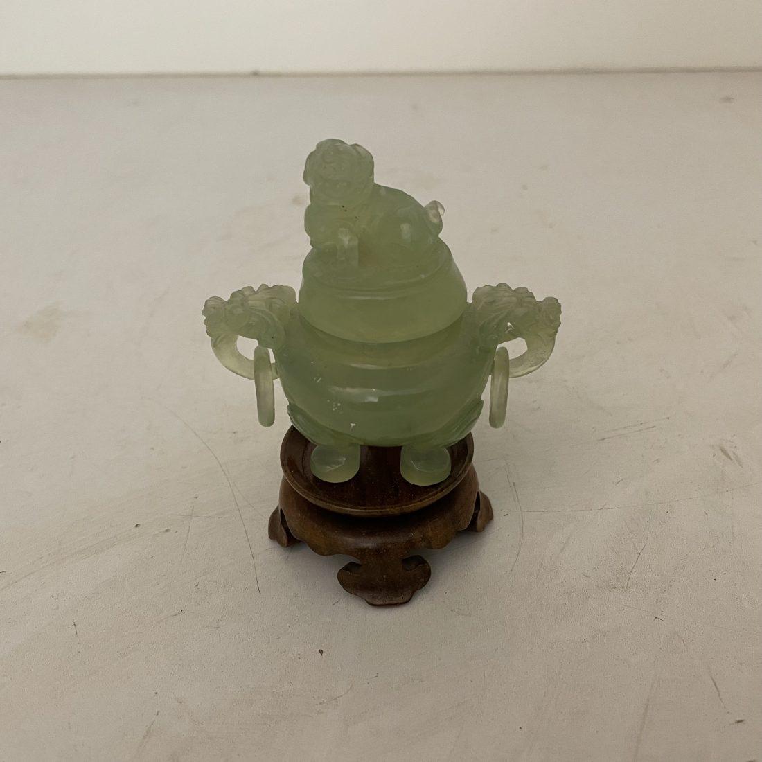 Jade wierookbrander in miniatuur vorm, China, begin 20e eeuw